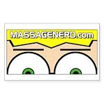 MassageNerd.com Sticker (Rectangle)