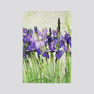 Irises Rectangle Magnet