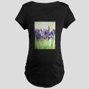 Irises Maternity Dark T-Shirt