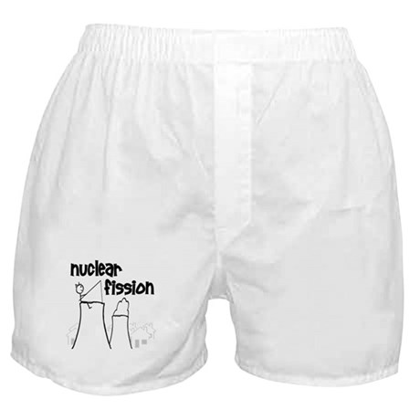funny nuclear fission Boxer Shorts