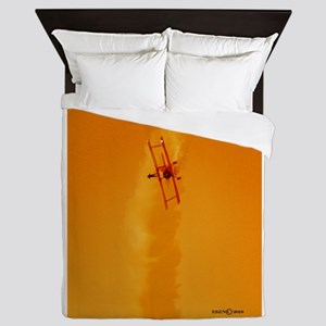 Wingwalker 1 orange(signed) Queen Duvet