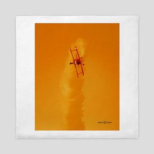 Wingwalker 1 orange(signed) Queen Duvet
