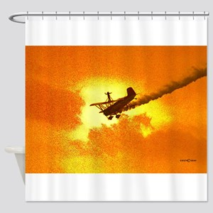 Wingwalker 2 Orange (signed) Shower Curtain