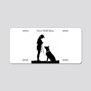 German Shepherd Silhouette Aluminum License Plate