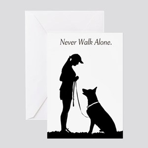 German Shepherd Silhouette Greeting Card