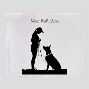German Shepherd Silhouette Throw Blanket
