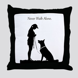 German Shepherd Silhouette Throw Pillow