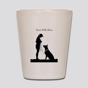 German Shepherd Silhouette Shot Glass