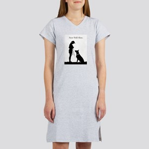 German Shepherd Silhouette Women's Nightshirt