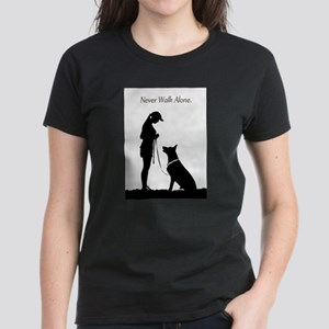 German Shepherd Silhouette Women's Dark T-Shirt