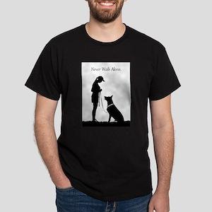 German Shepherd Silhouette Dark T-Shirt