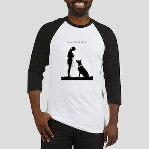 German Shepherd Silhouette Baseball Jersey