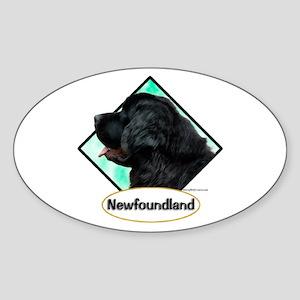Newf 7 Oval Sticker