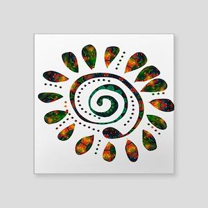 """power wild spiral Square Sticker 3"""" x 3"""""""