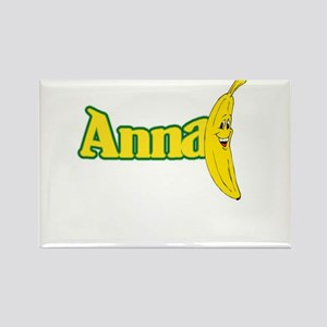 Anna Banana Rectangle Magnet