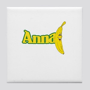 Anna Banana Tile Coaster