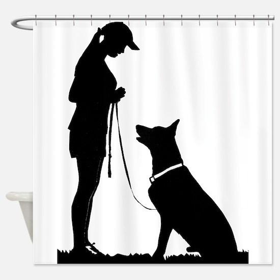 German Shepherd Obedience Shower Curtain