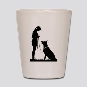 German Shepherd Obedience Shot Glass