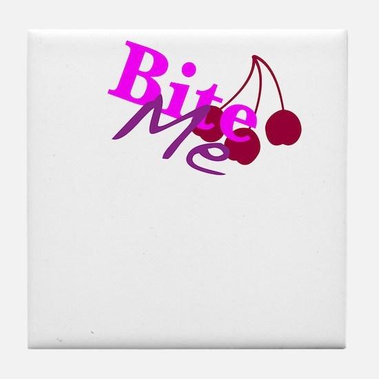 Bite Me Tile Coaster