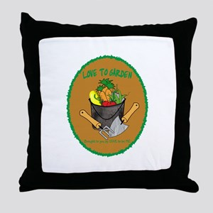 GARDENING - LOVE TO BE ME Throw Pillow