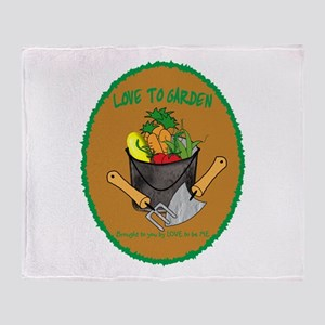 GARDENING - LOVE TO BE ME Throw Blanket