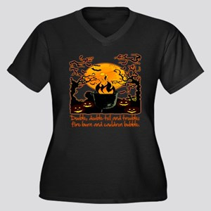 Cauldron Women's Plus Size V-Neck Dark T-Shirt