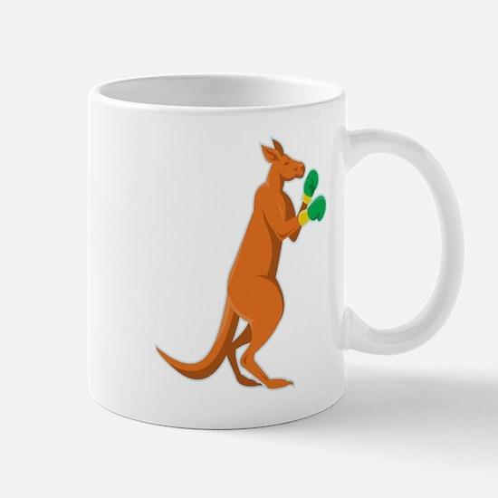 kangaroo boxer boxing retro Mug