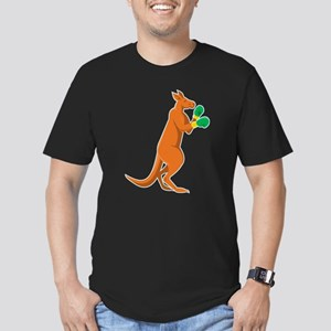 kangaroo boxer boxing retro Men's Fitted T-Shirt (
