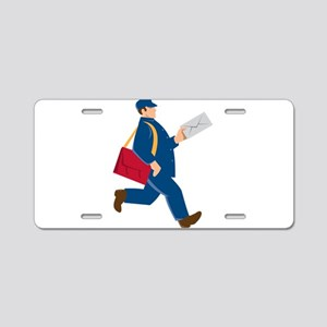 mailman postal worker delivery man Aluminum Licens
