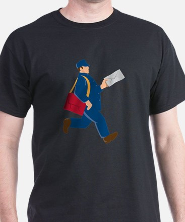 mailman postal worker delivery man T-Shirt