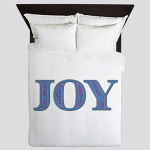 Joy Blue Glass Queen Duvet
