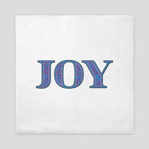 Joy Blue Glass Queen Duvet