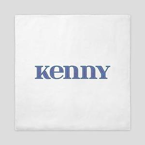 Kenny Blue Glass Queen Duvet