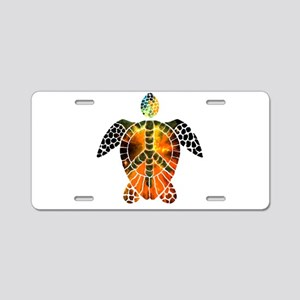 sea turtle-3 Aluminum License Plate