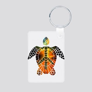 sea turtle-3 Aluminum Photo Keychain
