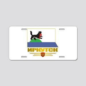 Irkutsk Flag Aluminum License Plate
