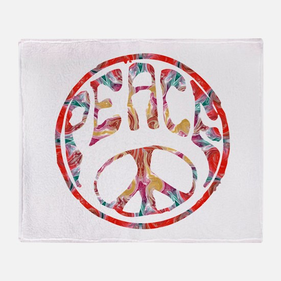 smooth peace Throw Blanket