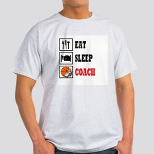 Eat Sleep Coach B-Ball Light T-Shirt