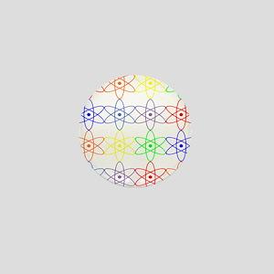 Nuclear nuke atom reactor rainbow Mini Button