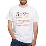 Gallia (orange) White T-Shirt