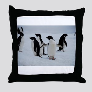 Adelie Penguin in Antarctica Throw Pillow