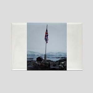 British flag at Port Lockroy Antarctica Rectangle
