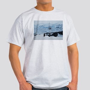 Gentoo Penguin at Port Lockroy Light T-Shirt