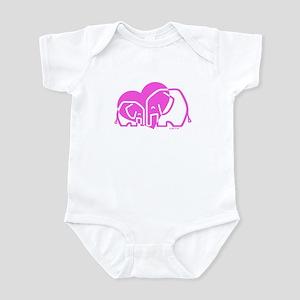 Elephants Infant Bodysuit