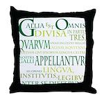 Gallia (green) Throw Pillow