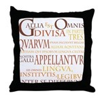 Gallia (orange) Throw Pillow