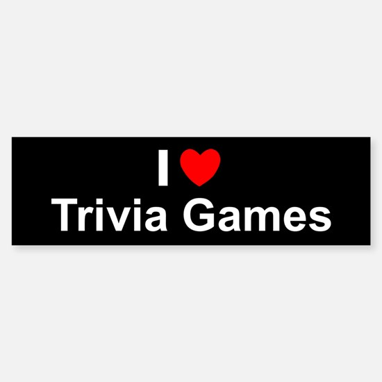 Trivia Games Sticker (Bumper)