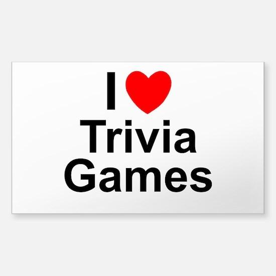 Trivia Games Sticker (Rectangle)