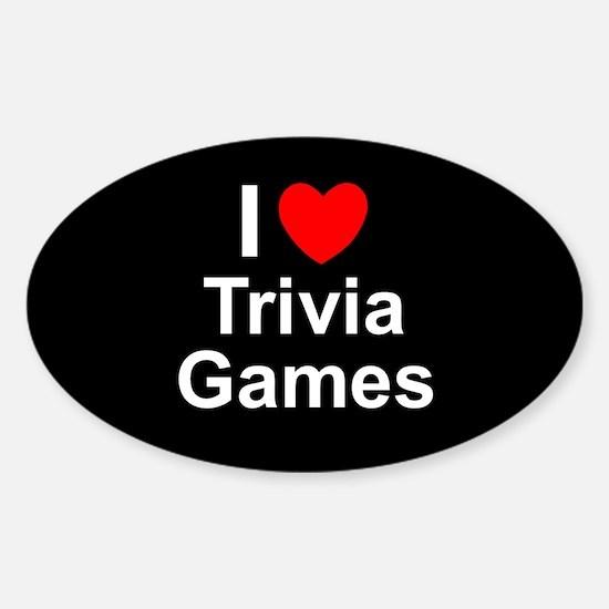 Trivia Games Sticker (Oval)