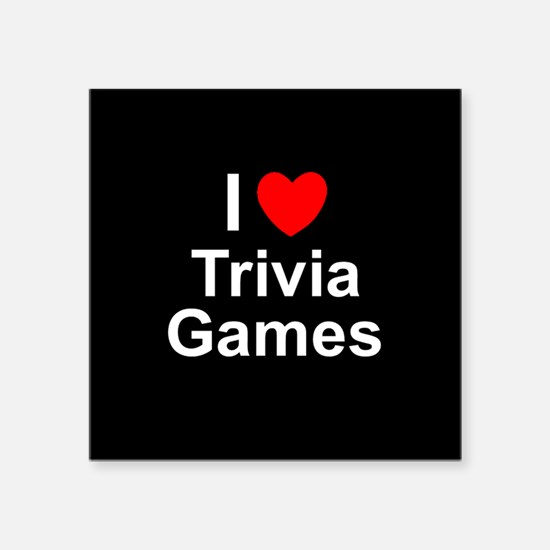 """Trivia Games Square Sticker 3"""" x 3"""""""